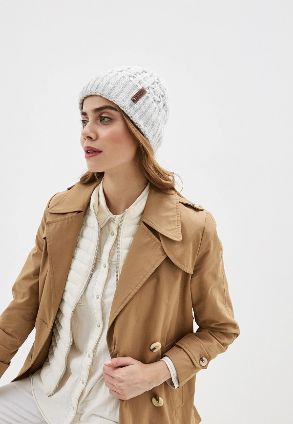 Фото 3 - Женскую шапку Snow Airwolf серого цвета