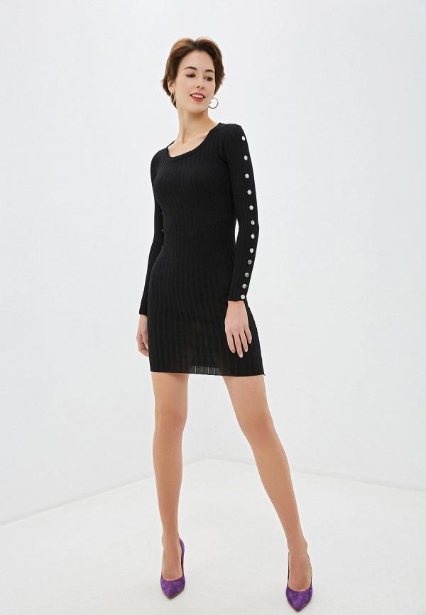 Фото 2 - Женское вязаное платье Snow Airwolf черного цвета