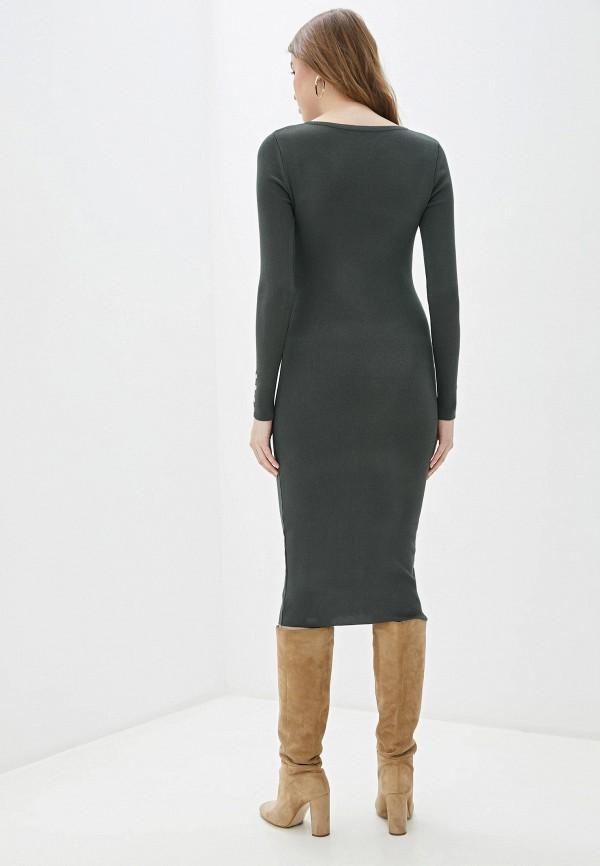 Фото 3 - Женское вязаное платье Snow Airwolf цвета хаки