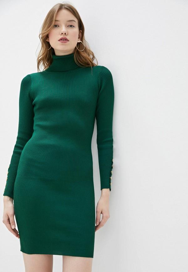 Фото - Женское вязаное платье Snow Airwolf зеленого цвета
