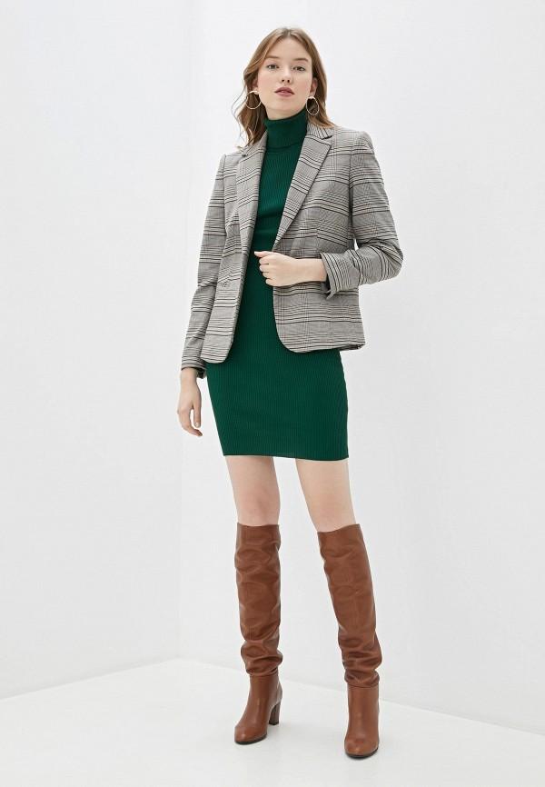Фото 2 - Женское вязаное платье Snow Airwolf зеленого цвета