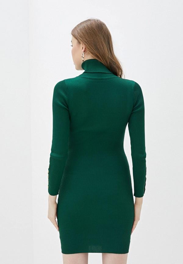 Фото 3 - Женское вязаное платье Snow Airwolf зеленого цвета
