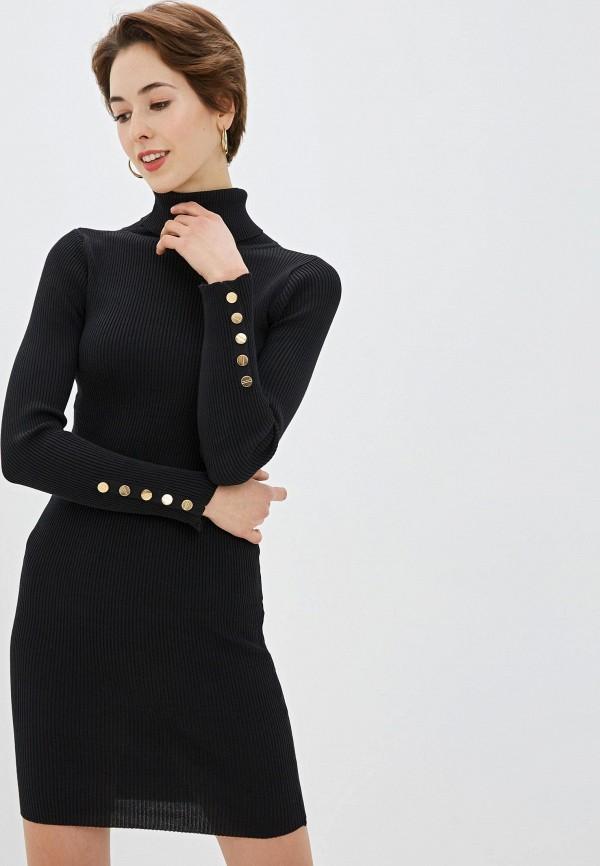 Фото - Женское вязаное платье Snow Airwolf черного цвета