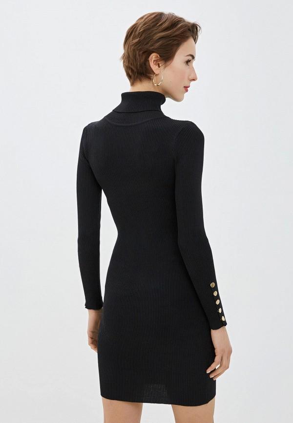 Фото 3 - Женское вязаное платье Snow Airwolf черного цвета
