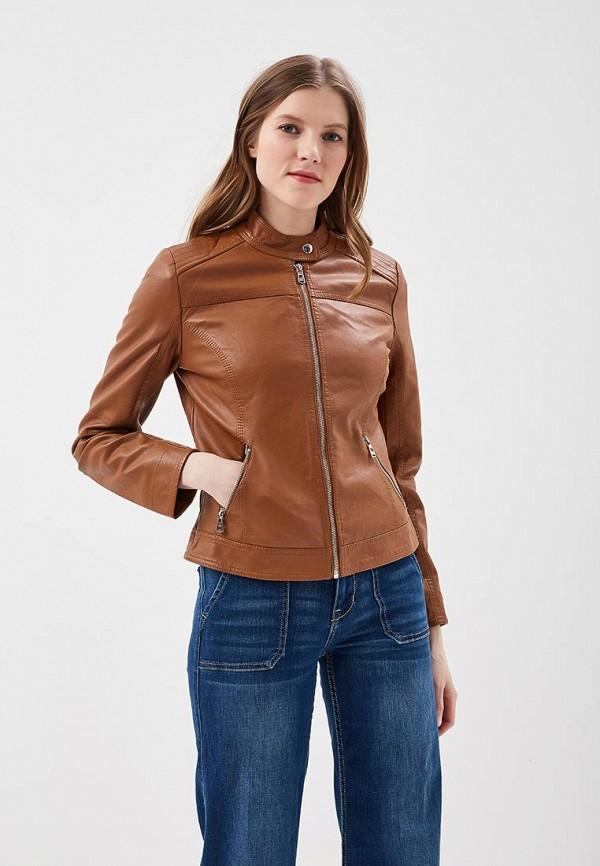 Купить Куртка кожаная Softy, so017ewavyv3, коричневый, Весна-лето 2018