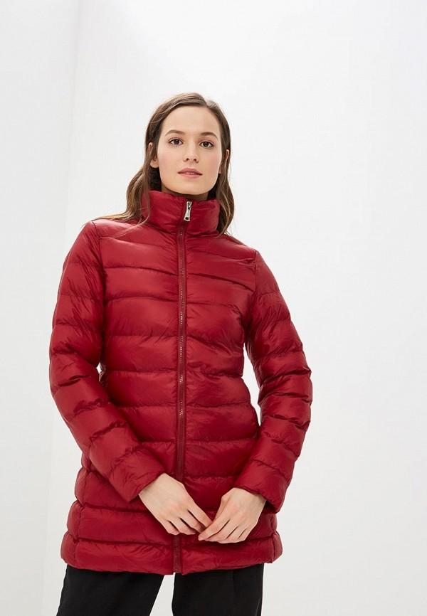 женская куртка softy, бордовая