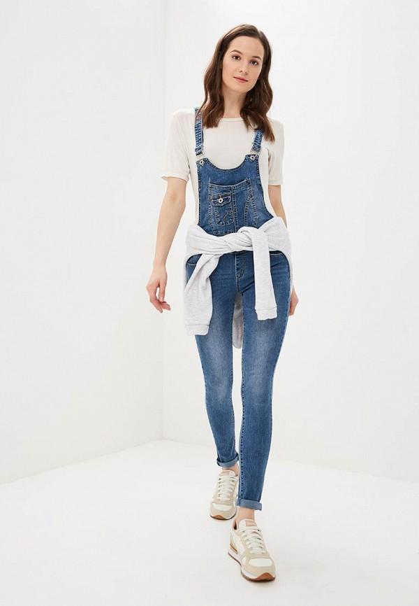 Купить Комбинезон джинсовый Softy, SO017EWCUSF1, синий, Осень-зима 2018/2019