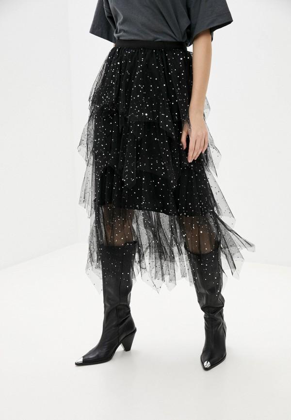 женская юбка softy, черная