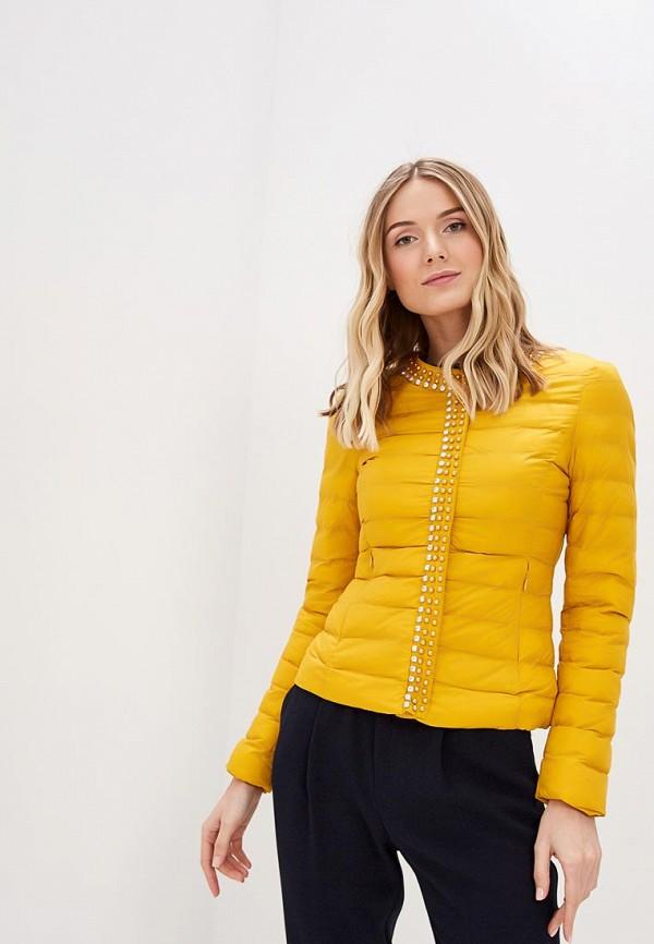 женская куртка softy, желтая