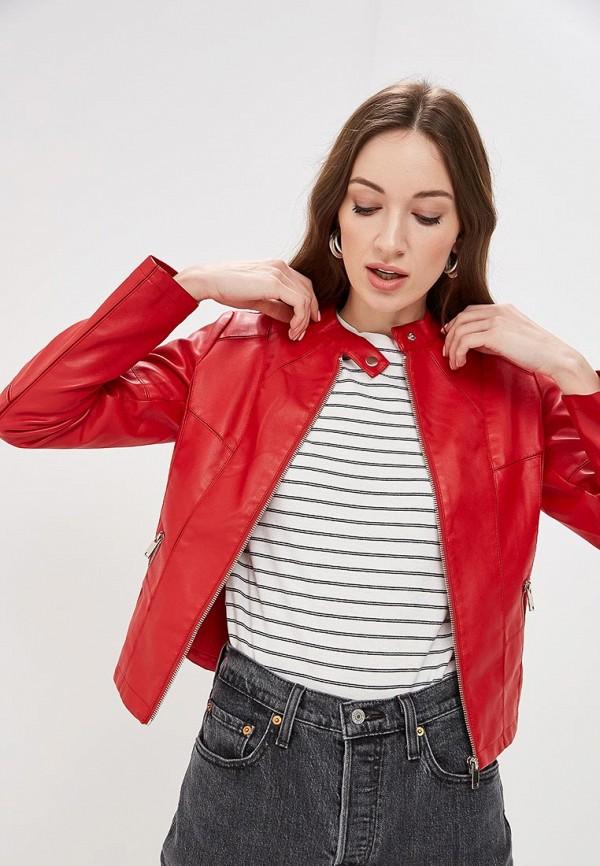 женская куртка softy, красная