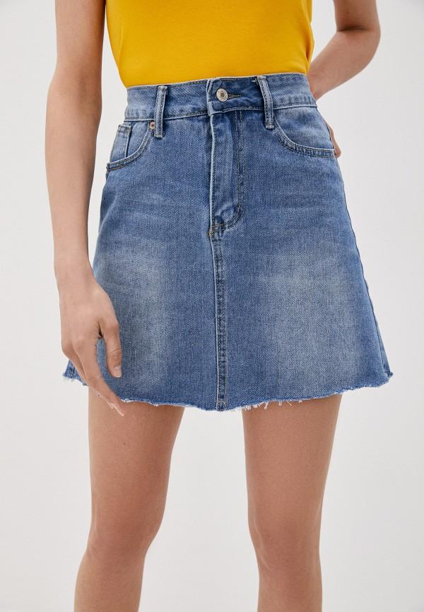 женская джинсовые юбка softy, синяя