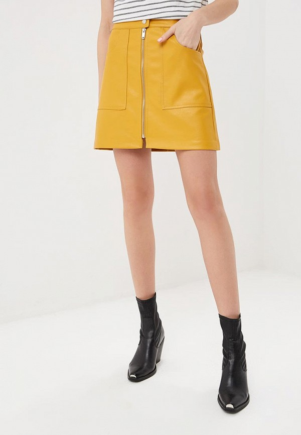 женская юбка softy, желтая