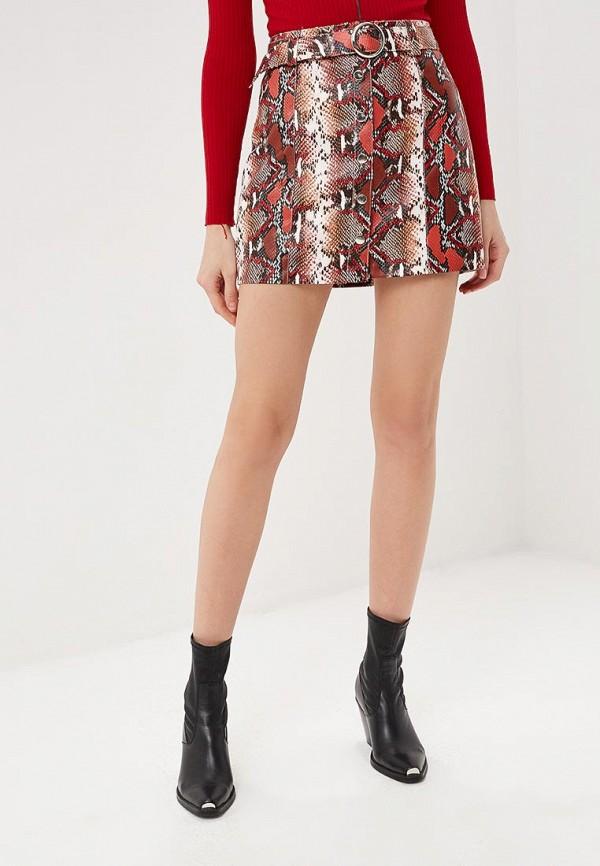 женская юбка softy, красная