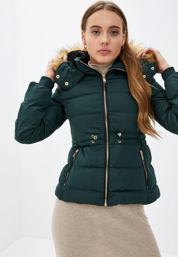 женская куртка softy, зеленая
