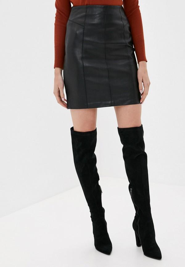 женская прямые юбка softy, черная