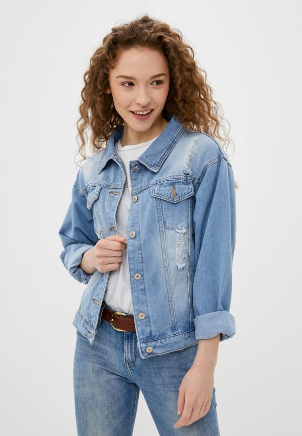 женская джинсовые куртка softy, голубая