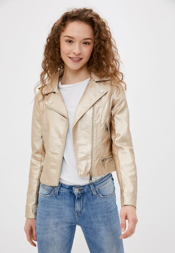 женская куртка softy, золотая
