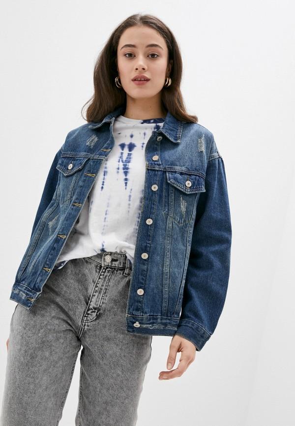 женская джинсовые куртка softy, синяя