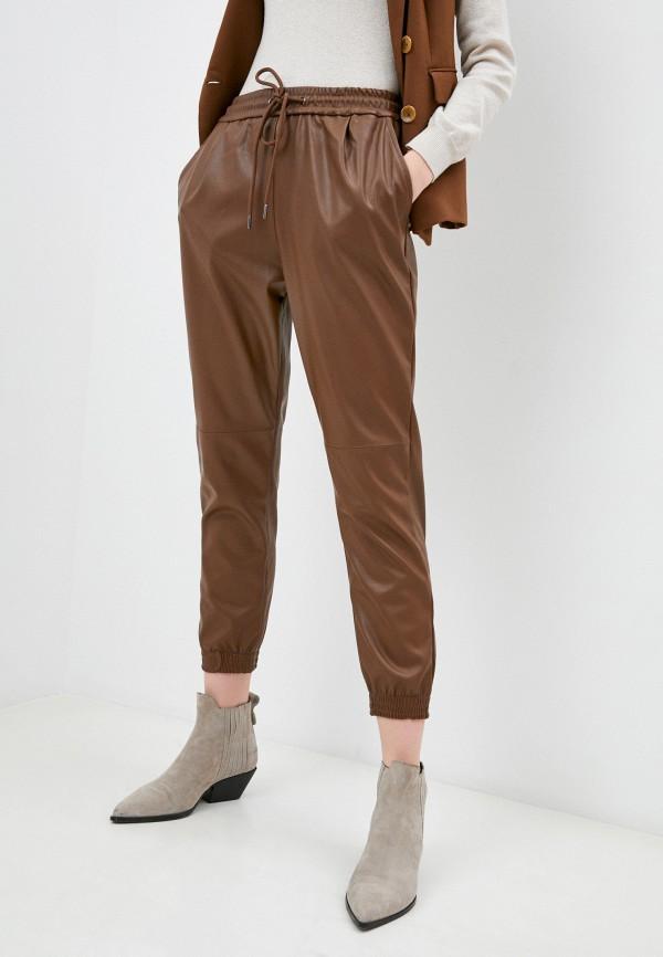 женские брюки softy, коричневые