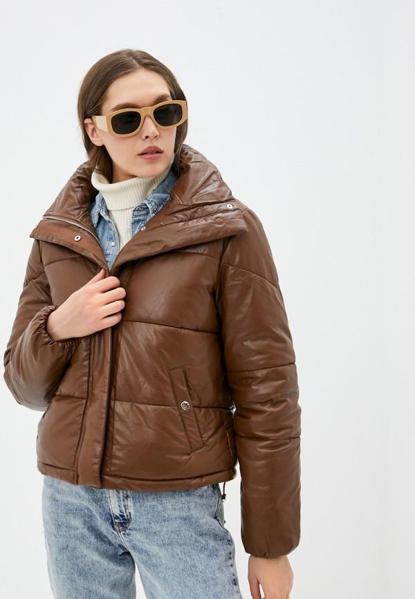 женская куртка softy, коричневая
