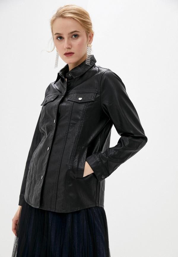женская рубашка с длинным рукавом softy, черная