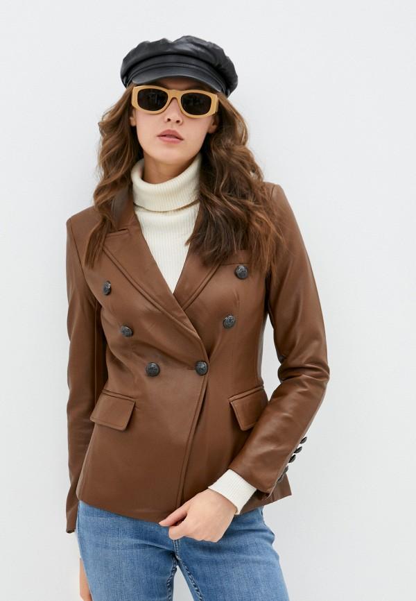 женский пиджак softy, коричневый