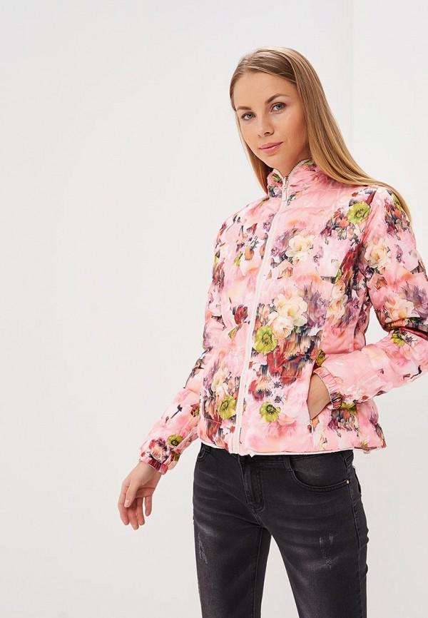Фото 2 - Куртку утепленная Softy розового цвета