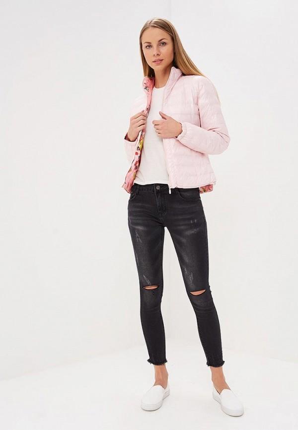 Фото 3 - Куртку утепленная Softy розового цвета