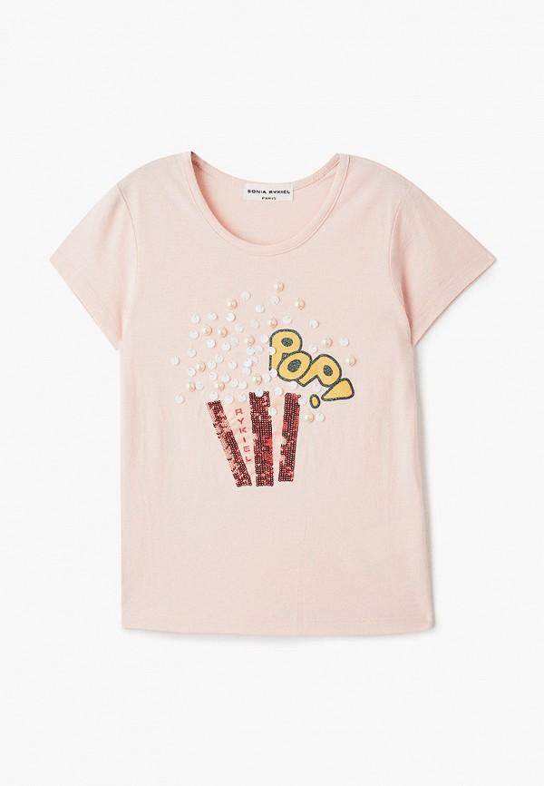 футболка с коротким рукавом sonia rykiel для девочки, розовая