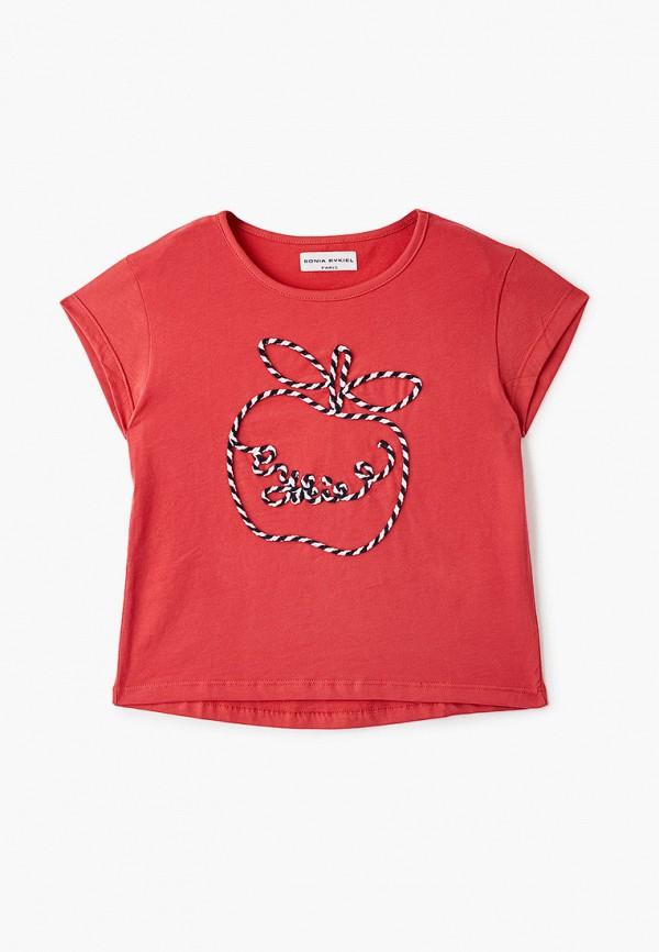 футболка с коротким рукавом sonia rykiel для девочки, красная