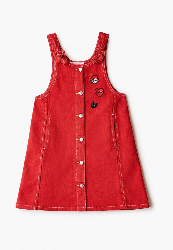 сарафан sonia rykiel для девочки, красный