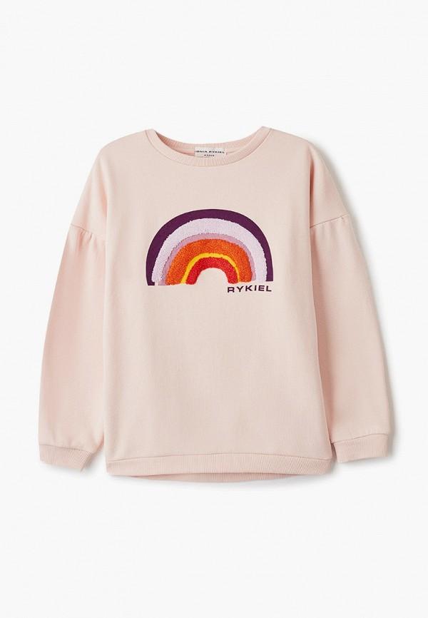 свитшот sonia rykiel для девочки, розовый