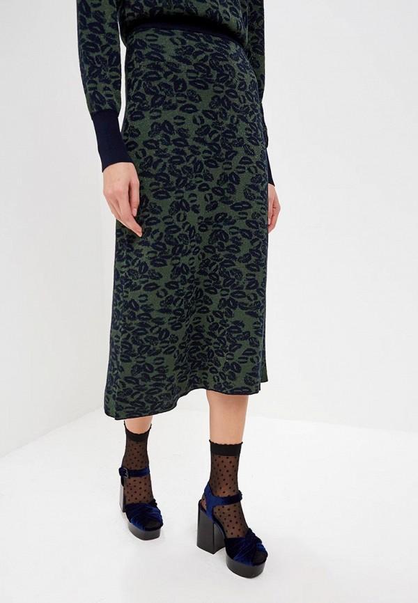 женская юбка sonia rykiel, зеленая