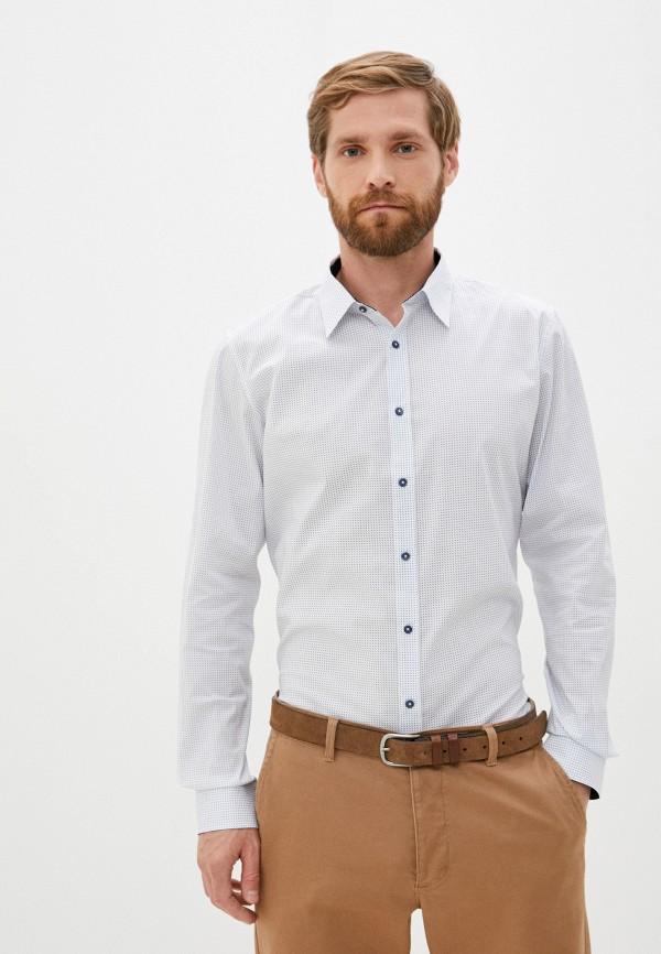 мужская рубашка с длинным рукавом s.oliver, белая
