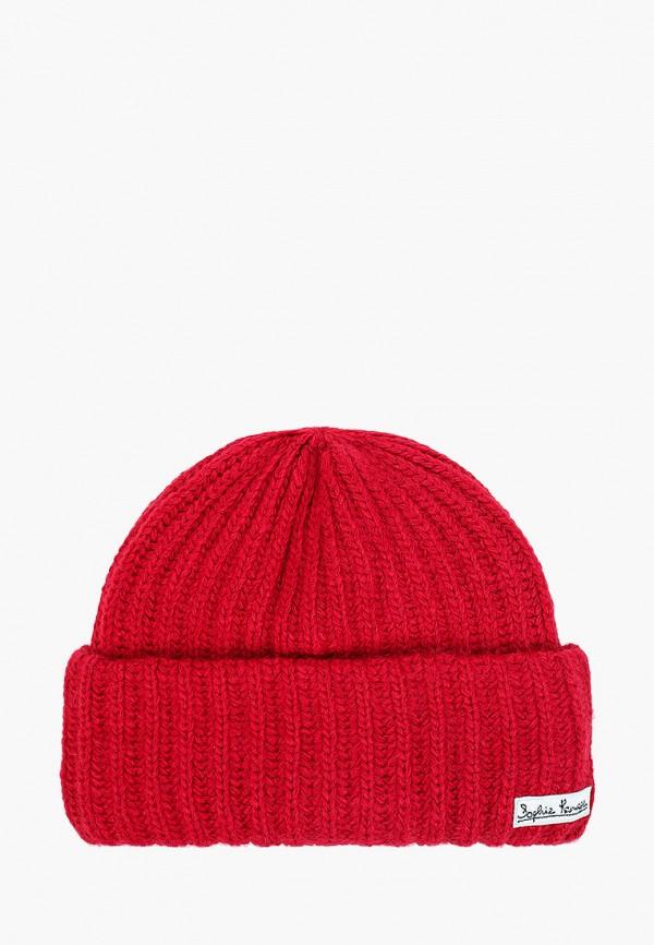 женская шапка sophie ramage, бордовая