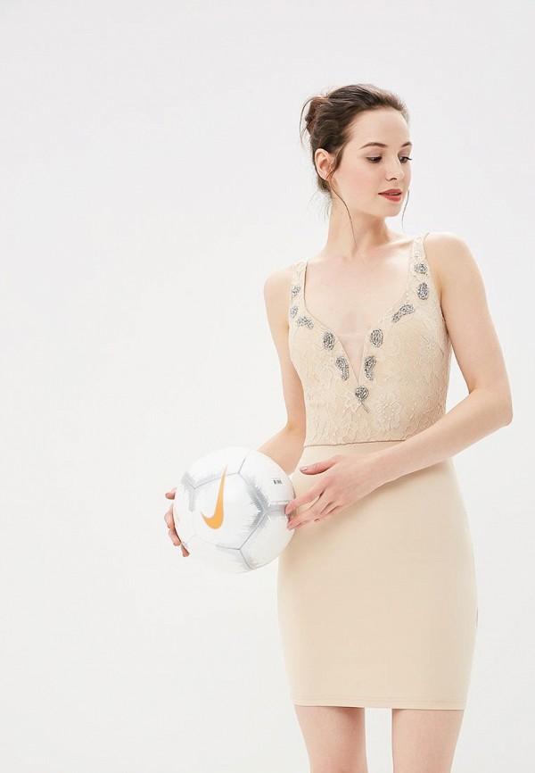Купить Платье Soky & Soka, SO039EWBVMR7, бежевый, Осень-зима 2018/2019