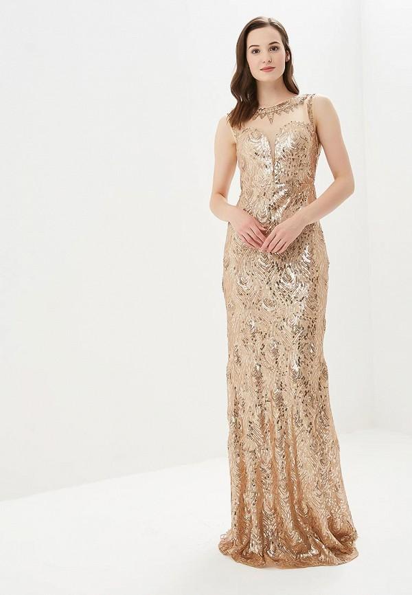 женское вечерние платье soky & soka, золотое