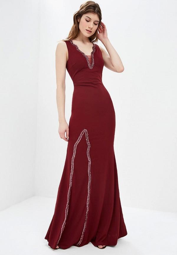 женское вечерние платье soky & soka, бордовое