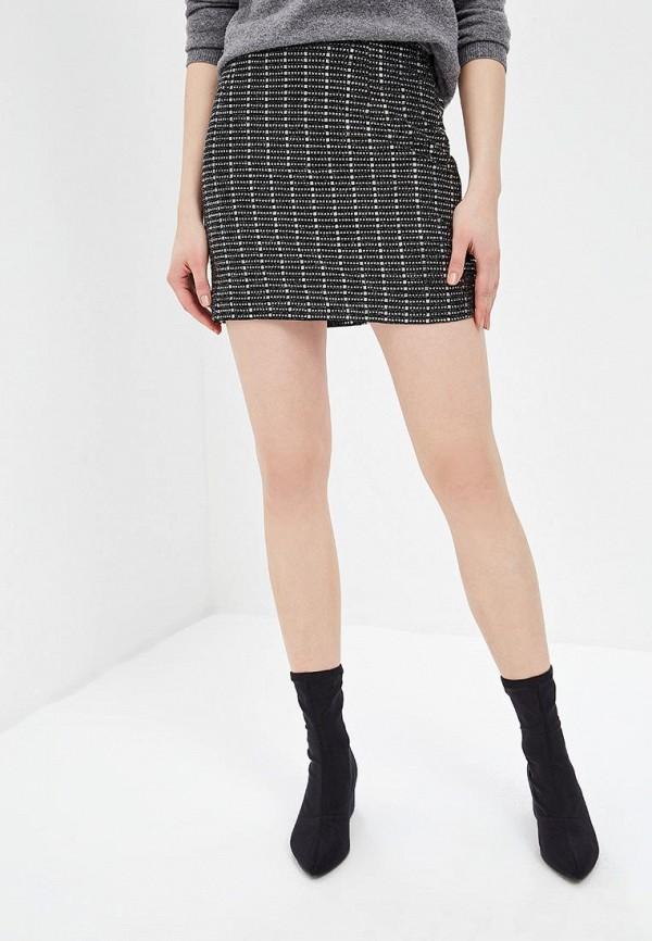 женская зауженные юбка soky & soka, черная