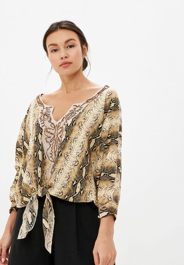 женская блузка soky & soka, коричневая