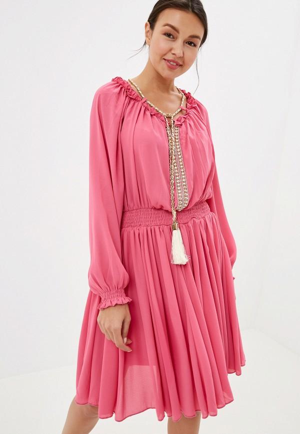 женское повседневные платье soky & soka, розовое