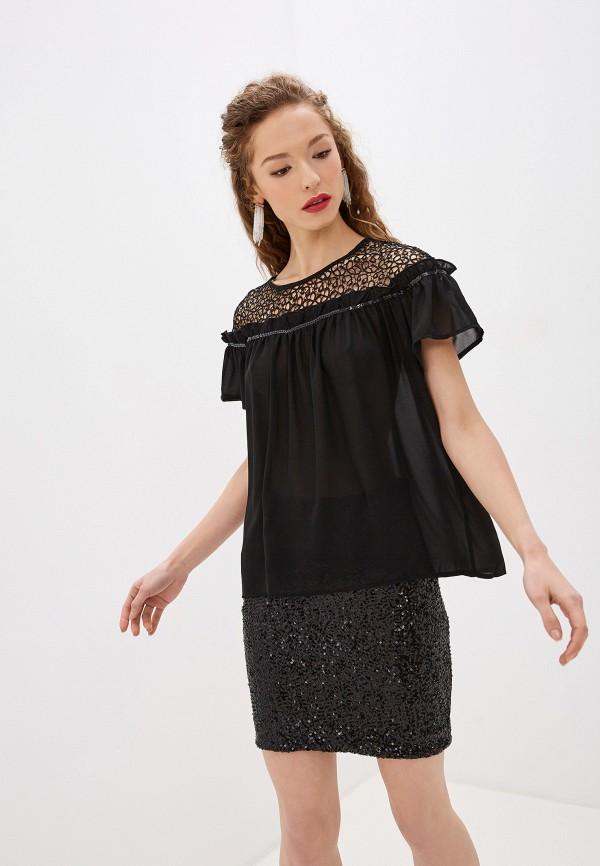 женская блузка soky & soka, черная