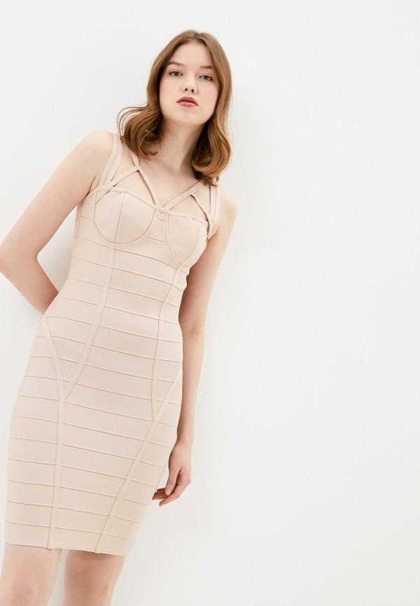 женское платье-футляр soky & soka, розовое
