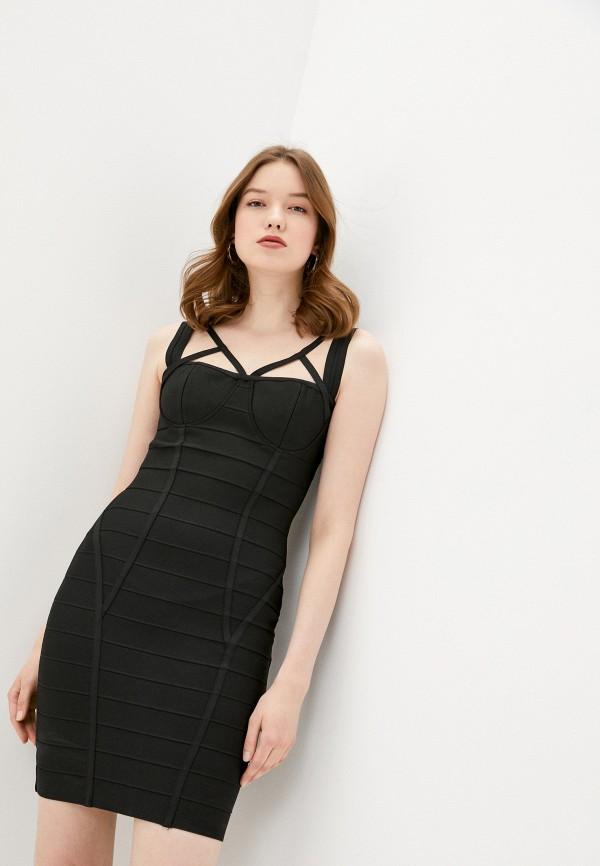 женское платье-футляр soky & soka, черное