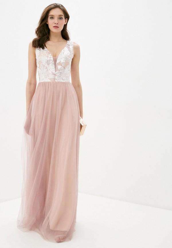 женское вечерние платье soky & soka, розовое