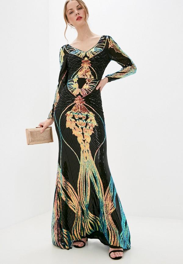женское вечерние платье soky & soka, синее