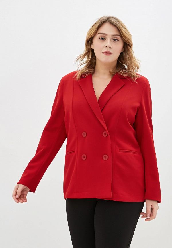 женский пиджак sophia, красный