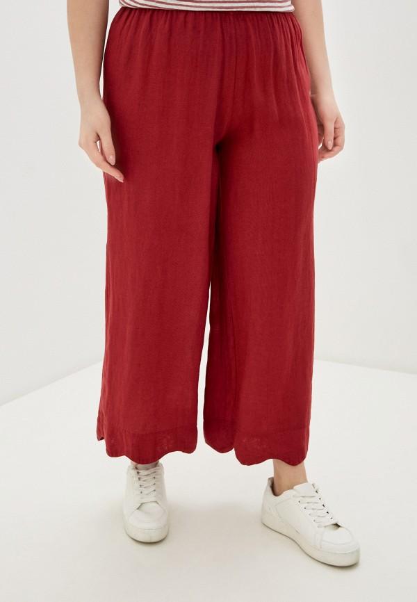 женские прямые брюки sophia, бордовые
