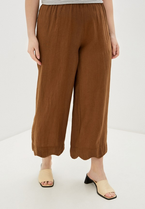 женские прямые брюки sophia, коричневые