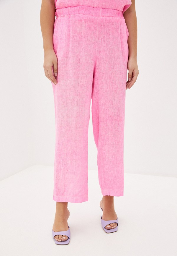 женские прямые брюки sophia, розовые